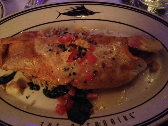 Oceanaire Seafood Room : STUFFED IDAHO RAINBOW TROUT