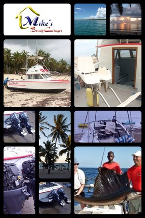 Mike's Beach Cottages: Deep sea fishing with Mike
