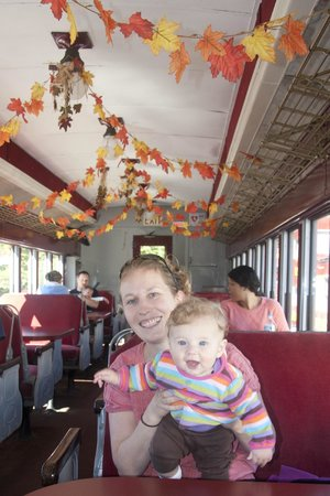 Hobo Railroad: Inside view of train during fall tours