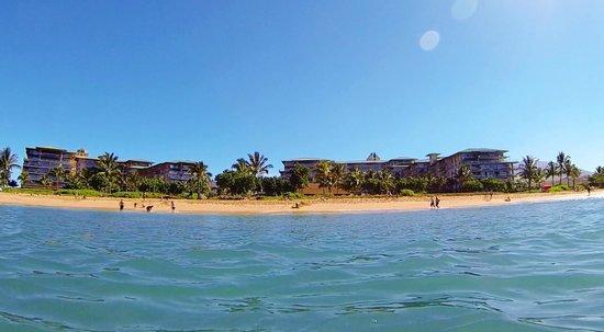 Honua Kai Resort & Spa: Honua Kai Resort and Beach view from offshore