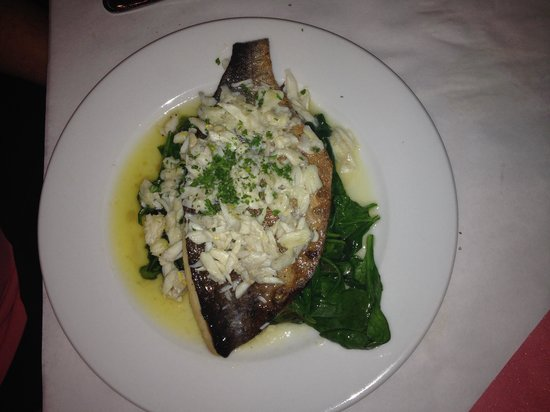 Christopher's on Carey : Pompano fish with a crab sauce