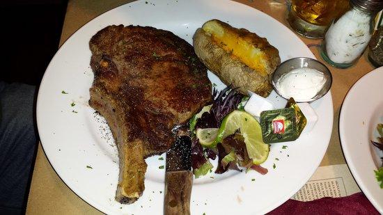 Cowboys & Angels Restaurant and Bar: bone in ribeye