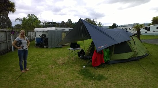 Mercury Bay Holiday Park: Our tent
