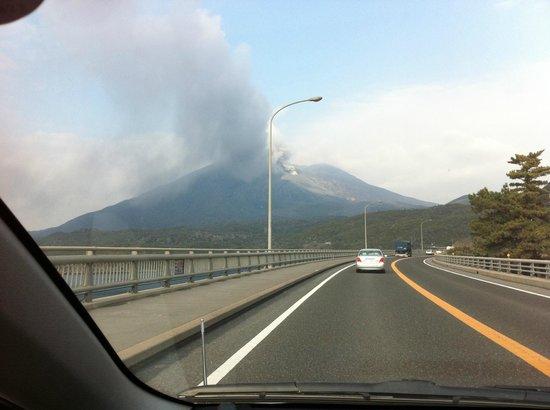 Sakurajima: 垂水市側からの噴煙