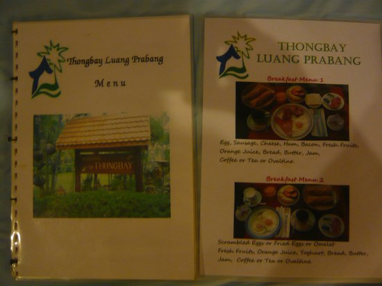 Thongbay Guesthouse : breakfast choice 2