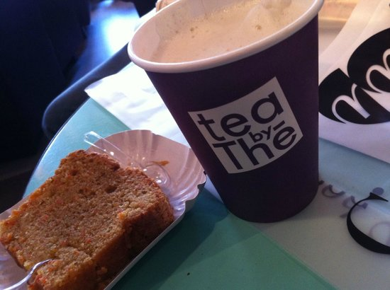 Tea by The: Earl Grey Latte and a slice of the carrot loaf - both scrumptious!