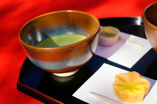 Rikugien Garden: Japanese green tea