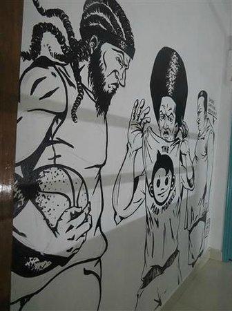 "Mad Monkey Hostel Phnom Penh: More corridor ""decor"""