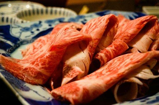 Rokkasen: Choice Japanese Black Cattle slices