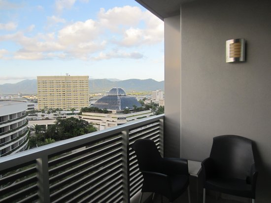 Cairns Harbour Lights: lounging on the balcony
