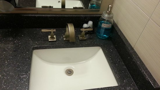 Alexanders Cafe Bathroom Sink With Mouthwash Available