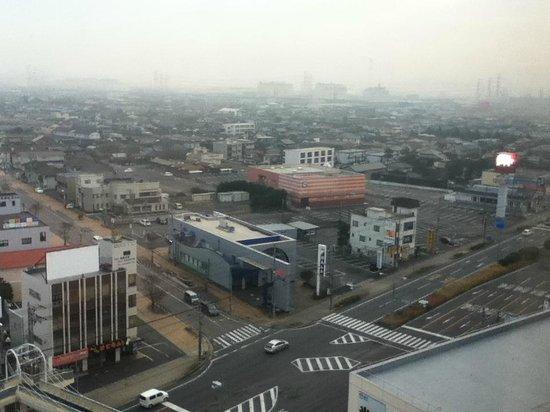 Kashima Central Hotel : 右上が新日鐵住金株式会社様等の工場群です。
