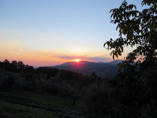 Agriturismo Poggio al Sole: watching the sunset from Poggio al Sole