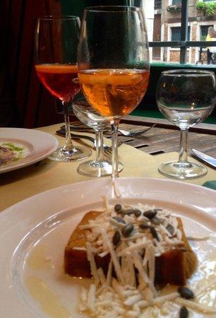 La Zucca: Flan di Zucca con ricotta salata e immancabile Spritz!