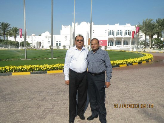 Magnificant Doha golf club building