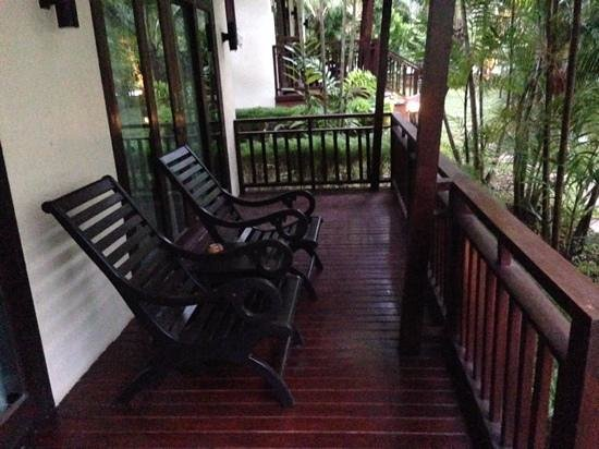 Aonang Phu Petra Resort, Krabi: Veranda outside our room. So peaceful.