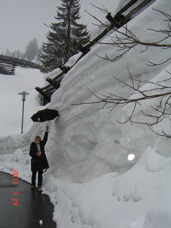Apres Post Hotel: Stuben sneeuwhoogte