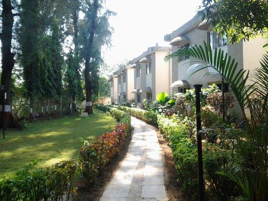 Ras Resorts Silvassa: Walking track amidst the lush greens