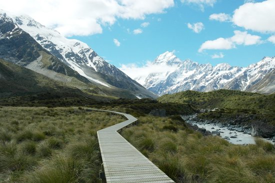 Hooker Valley Track: along the track