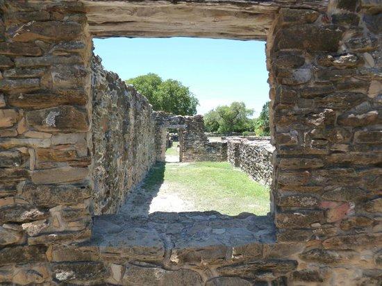 Mission Espada: After entering the main entrance you see windows and this is from a window.
