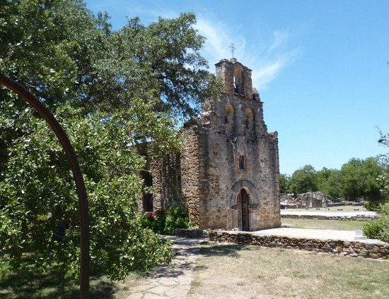 Mission Espada: The front of the church