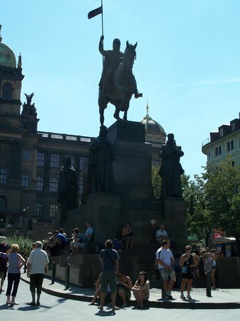 Wenceslas Monument : Statue of St. Wenceslas