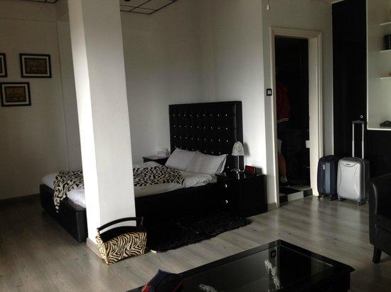 Asty Hotel: View across zebra room