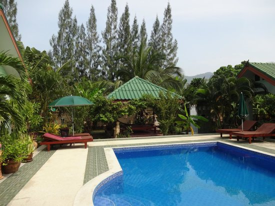 Paradise Home Resort: Poolliegen und Schattenplätze
