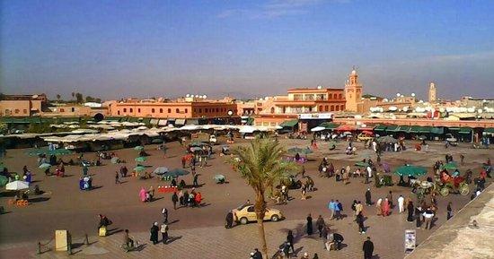 Cafe Restaurant l'Etoile: vue panoramique depuis l'Etoile de Marrakech