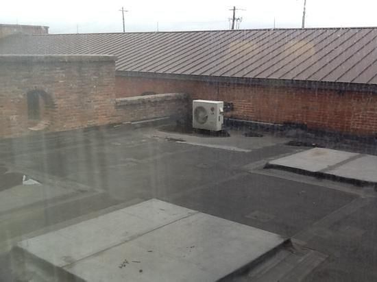 Columbus Marriott: my view of historic Columbus! rubber roofing and hvac units!