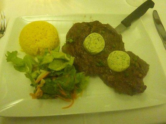 Wendie's: Entrecôte beurre maître d'hôtel et ses garnitures