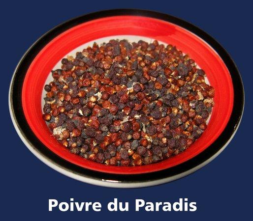 Restaurant Cote Sud: Poivre du Paradis ou poivre de Guinée (Ataku)...