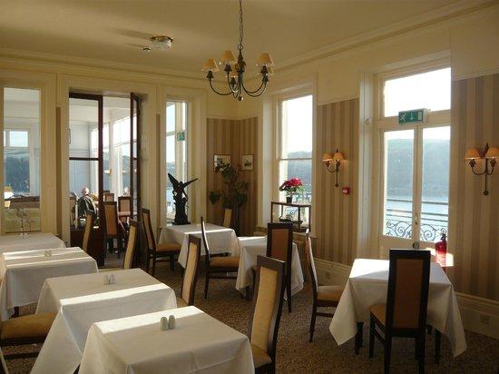 The Fowey Hotel: temporary dining room