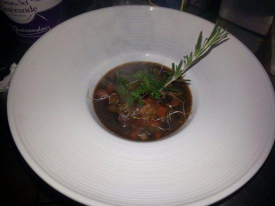 Restaurant Le Duo : Crepinette d'agneau confit au curry