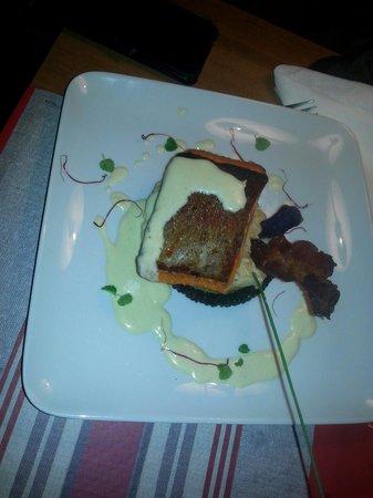 Restaurant Le Duo : Pavé de truite saumonée sauce aux algues