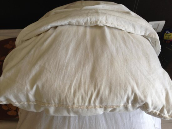 The Oriental Residency: Pillow with yellow stains