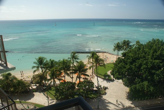 Aston Waikiki Circle Hotel : View from balcony from 1107.  Nice view!
