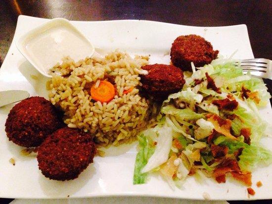 Akl Libanesisches Restaurant: Falafel Reis menu