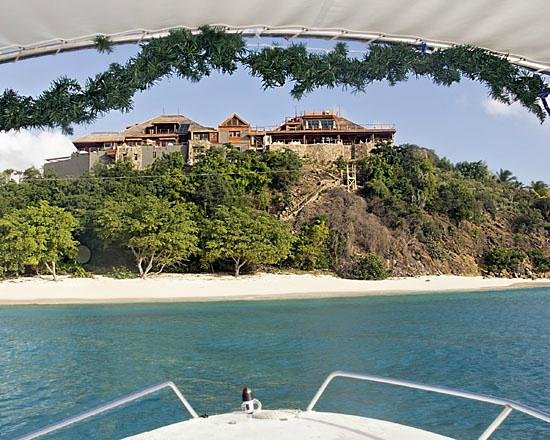 Gumption's Tours BVI: View from Gumption's Boat of Necker Island