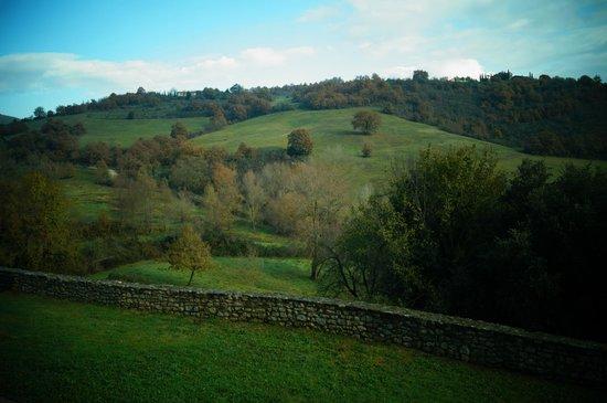 Castello Valenzino: Veduta sulla valle