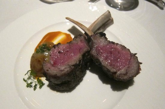 The Grill: Colorado Lamb Rack cooked chef's choice