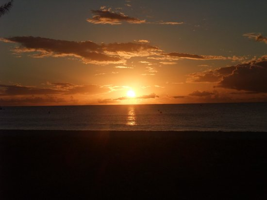 Beach View: Sunset after the Barbados 10K.