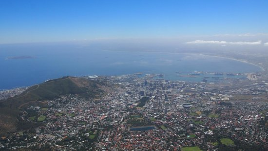 Dysart Boutique Hotel: View from the top of table mountain