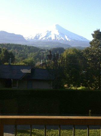 Frontera Pucon Hostel B&B : Vista da janela....