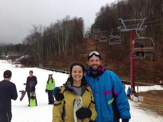 Wolf Ridge Ski Resort: Snow blown 5 slopes open in 65F degree weather