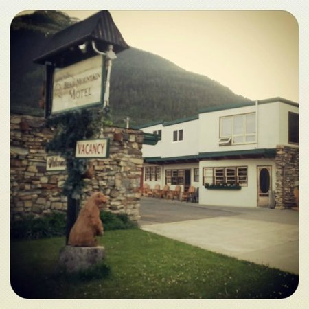View of Bear Mountain Motel, Waterton from the road, June 2013