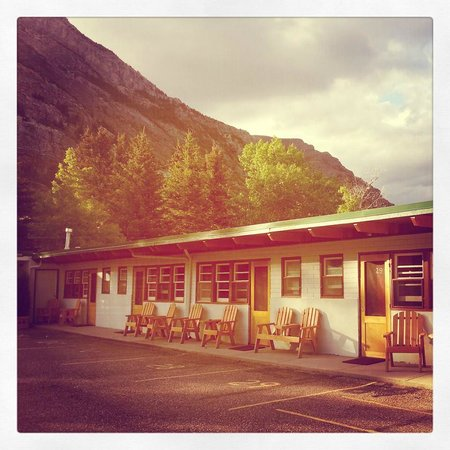 Outside view of rooms, Bear Mountain Motel, Waterton, June 2013