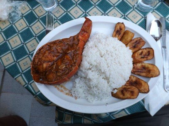 Casa Colonial La terraza: Deliciosa Langosta!