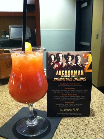 Foxboro, MA: Special drinks for Anchorman Movie