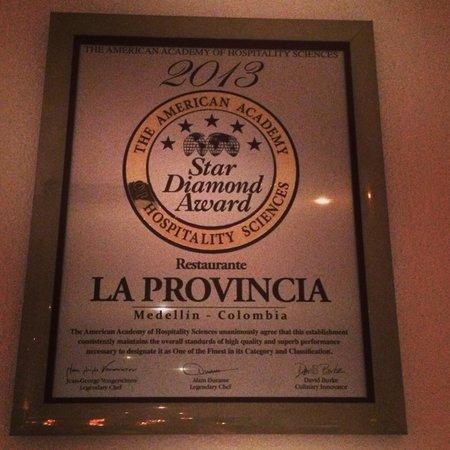 Premio reciente a La Provincia